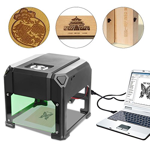 9TRADING 2000mW Desktop Laser Engraving Machine Logo Marking Engraver Cutter Printer, Free Tax, Delivered Within 12 Days