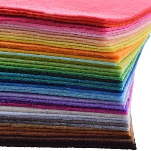 wildlead 40/unids tessuto non tessuto di 1/mm di poliestere feltro Fogli Confezione di Cartamodello di decorazione del hogar per cucire bambole artigianato