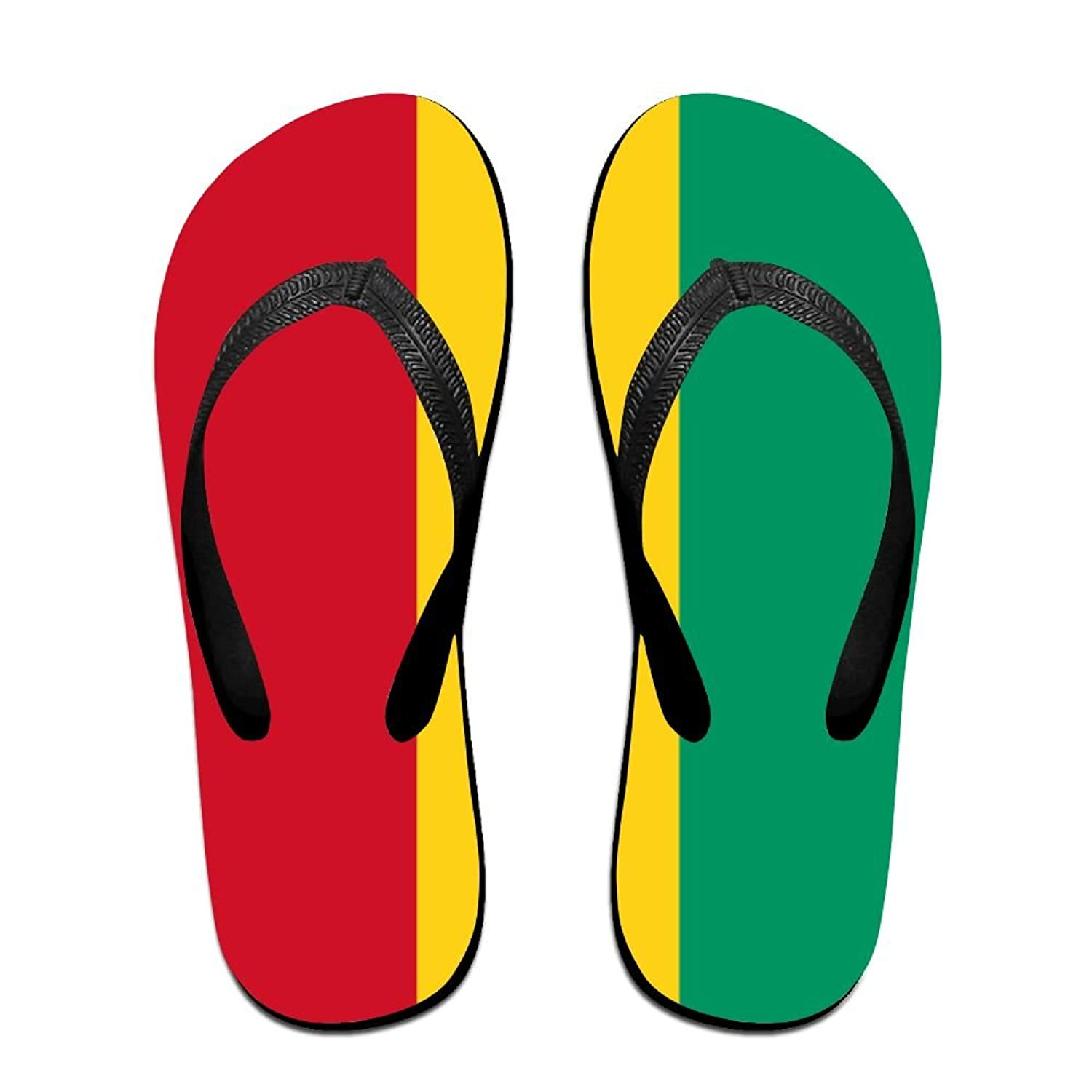Flag Of Guinea Cozy Flip Flops For Children Adults Men And Women Beach Sandals Pool Party Slippers