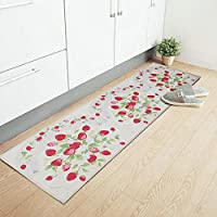 iHappy Strawberry Anti-Slip Washable Long Floor Carpet Kitchen Mat Rug,17x69 Inches