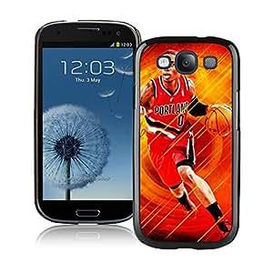 New Custom Design Cover Case For Samsung Galaxy S3 I9300 Portland Trail Blazers damian lillard 6 Black Phone Case