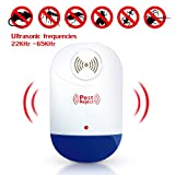Pest Control, Electronic Mosquito Repellent 4 Pieces, Plug in Ultrasonic Pest Repeller for Mice, Cockroaches, Bed Bugs, Flies and more by Ansbro
