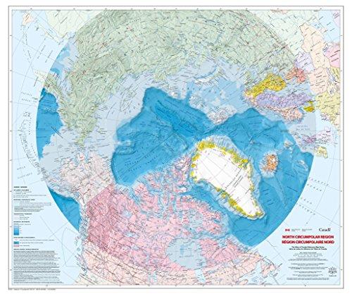 North Circumpolar Region Wall Map - Bilingual - Atlas of Canada - 43