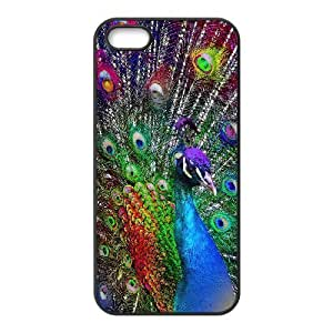 ALICASE Diy Customized Hard Case Peacock for iPhone 5c [Pattern-1]