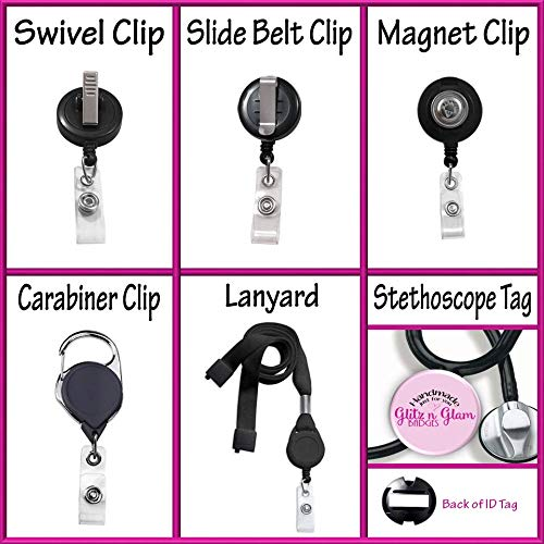 Nurse Badge Holder Badge Name Holder Custom Name Badge Reel Retractable Badge Holder Nurse Badge Reel GG4703 Badge Clip ID Holder