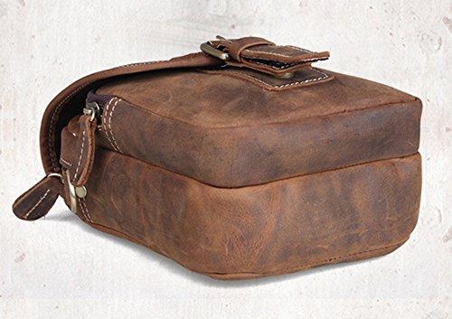 Insun - Bolso de hombro hombre Yellowish-Brown