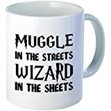 Muggle in the Streets Wizard in the Sheets 11 Ounces Funny Coffee Mug