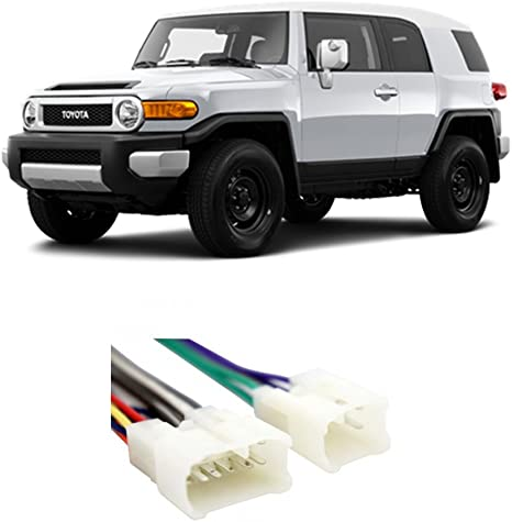 Compatible with Toyota FJ Cruiser 2007-2014 Factory Stereo to Aftermarket on toyota wiring harness 16 pin diagram, toyota radio harness, toyota dvd player, toyota alternator rebuild kit, toyota wiring harness parts, toyota engine wiring harness, dual car stereo wire harness, toyota pickup wiring harness, toyota stereo wirin harness vg, toyota 22r performance, toyota dvd wiring harness, toyota tacoma wiring harness, toyota wiring diagrams color code,