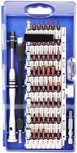 トルクスドライバーセット、 61人に1人 プロの修理ツールキット クロームバナジウム鋼 コンピューターのラップトップ時計メガネを修復します,ブルー