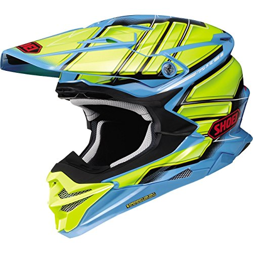 Shoei VFX-EVO Offroad Motorcycle Helmet Glaive TC-2 Blue/Yellow 2X-Large (More Size Options)