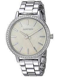 Armitron 75/5500TMSV Reloj de Pulsera, Swarovski Vidrio Acentuado, Tono Plateado