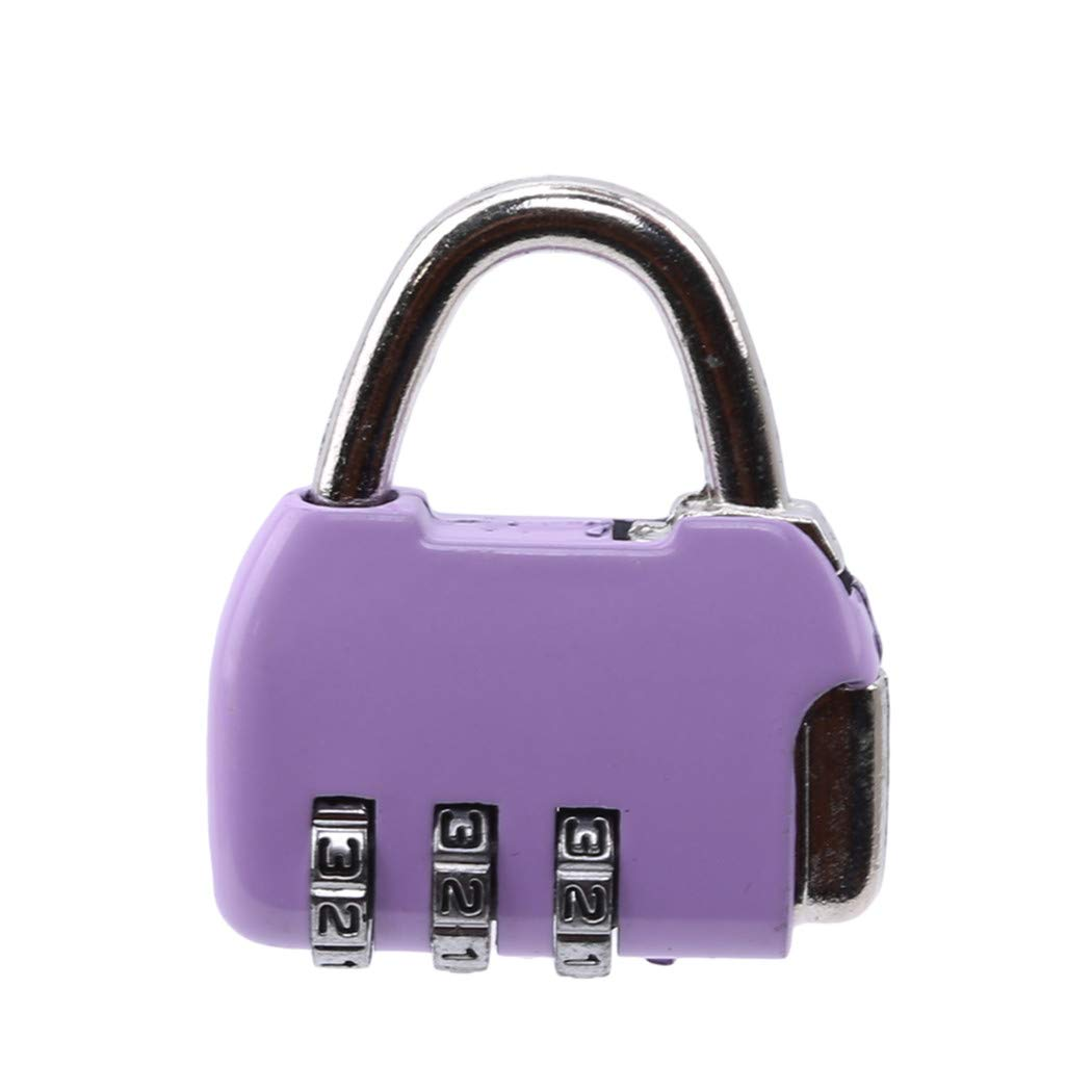 LIUCM Padlock Luggage Password Lock Suitcase Bag Code Cute Convenience Lock Purple