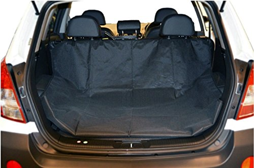 Dog Car Seat Covers - Waterproof Cargo Liner Cover For Suv - Cargo Trunk Liner In Black - Dog Car Hammock Suitable For Most Cars SUV's & Trucks MEASURES 58' L x 47' W By Mighty Motor