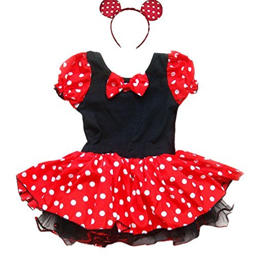 iEFiEL Little Girls Fancy Dressing up Costume Tutu Dress With Ear (Girls Dressing Up Outfits)