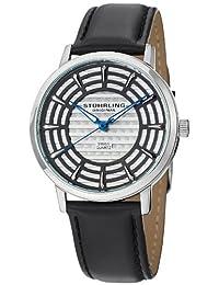 Stuhrling Original Men's 398.331510 Classic Winchester Colosseum Swiss Quartz Slim Silver Dial Watch