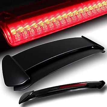 Black Fiber Glass Spoiler with LED Brake Light for Honda Civic Hatchback