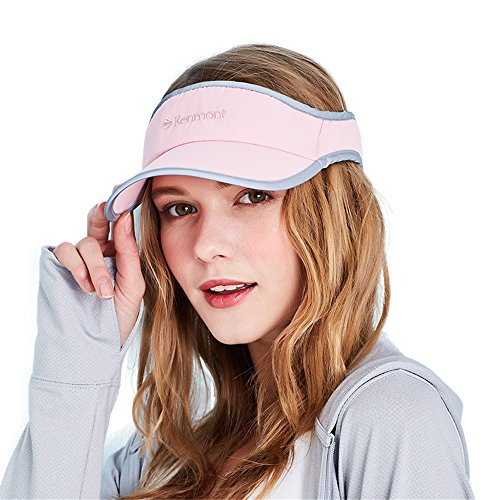 Kenmont Women Solid Sports Sun Visor Running Golf Tennis Cap Adjustable Velcro Plain Hat (Nude - Sunglasses Face Full Visor