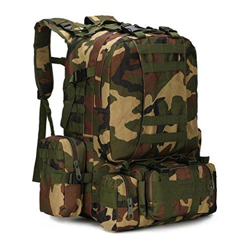 Fulltime (TM)–�?5.5l al aire libre Camping viaje senderismo escalada bolsa multifunción táctica mochila mochila–Mochila de hidratación (I)