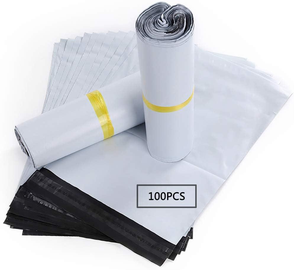 HVDHYY Bolsas para Envíos Sobres de Postales Plástico de Genérico Envío por correo Bolsas Polietileno Autoadhesivas Embalaje Sobres para Postales Blanco Bolsas Opaca (45CMX32CM)