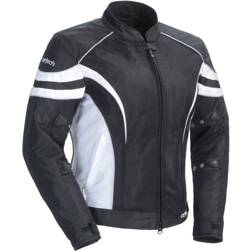 (Cortech LRX Air 2.0 Women's Textile On-Road Motorcycle Jacket - Black/White / Plus)