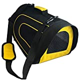 [Extra 50% OFF] Pet Magasin Soft-Sided Pet Travel Carrier (Airline Approved) for Cats, Small Dogs, Puppies and Other Pets by (Black & Yellow)