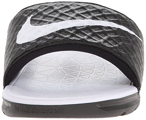 Sandals Benassi Solarsoft Black WMNS Nike White Black Bathing Women's 010 wCX1q5