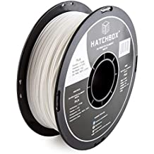 HATCHBOX 1.75mm White PLA 3D Printer Filament - 1kg Spool (2.2 lbs) - Dimensional Accuracy +/- 0.03mm