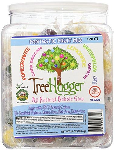 Tree Hugger Bubble Gum, Fantastic Fruit, 120 Count