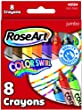 RoseArt Confetti Crayons 8-Count Assorted Colors (48184)