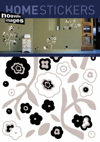 Home Stickers Black & White Flower Decorative Wall Stickers