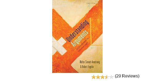 Amazon.com: Understanding Arguments: An Introduction to Informal ...
