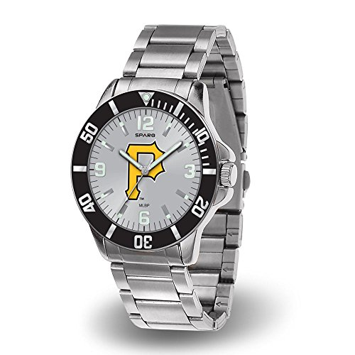 (Rico Pittsburgh Pirates MLB Key Watch with Stainless Steel Band )