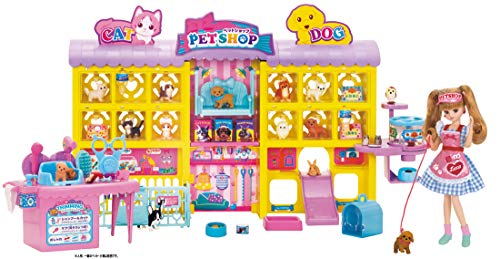 Licca chan Wan Nyan Trimmer Nigiyaka Pet Shop ( Dog and Cat Pet Store) (Barbie Pet Shop)