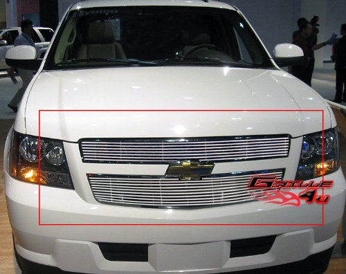 2010 Tahoe Hybrid - APS Compatible with 2009-2013 Chevy Tahoe Hybrid Main Upper Billet Grille Grill Insert N19-A17666C