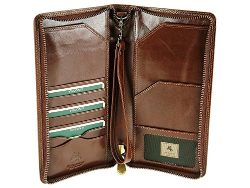 Visconti 728 Large Leather Travel Wallet for Passports