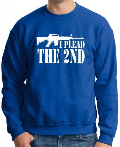 I Plead the 2nd Premium Crewneck Sweatshirt XL Royal