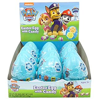 Paw Patrol Party Favors, Plastic Easter Eggs Filled with Candy, 0.75 Ounce, Pack of 12
