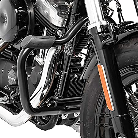XL 883 N dal 2009 al 2017 Barra Barre Tubo Paramotore Paragambe Protezione Anti-caduta Anti-urto Engine Guard Nero MUSTACHE x Moto Harley Davidson Sportster 883 Iron
