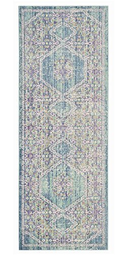 Safavieh Windsor Collection WDS311S Spa and Fuchsia Vintage Distressed Bohemian Runner (3' x 8') by Safavieh