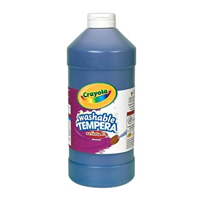 Crayola Artista II Washable Tempera Paint 16oz Blue: Toys & Games