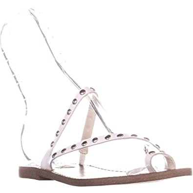 084a142bf58 Amazon.com | Steve Madden Womens Daria Leather Studded Flat Sandals ...