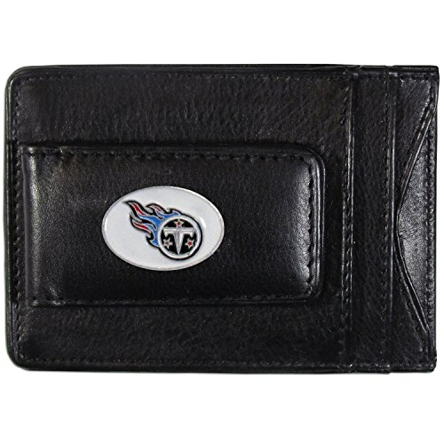 NFL Tennessee Titans Leather Money Clip Cardholder