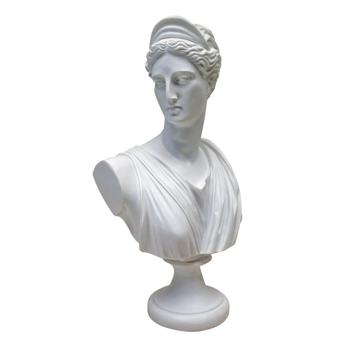 Design Toscano Apollo Belvedere Bust Statue, 30 cm, Bonded Marble Polyresin, White PD72520