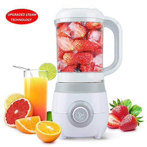 Eternal Home Baby Food Maker Processor, All-in-One Food Steamer and Blender for Toddlers, Advanced Steam Technology, Built-in Timer, 600ML, White
