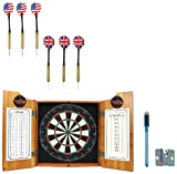 NCAA Illinois State dart cabinet with Darts and Board