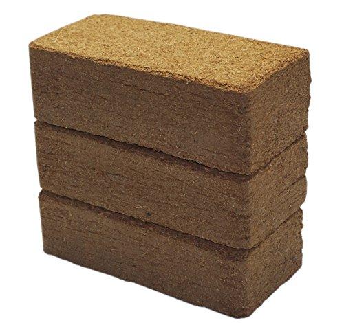 108 L Kokoseinstreu Bodengrund, Terrarienerde für Reptilien - einfach partitionierbare Kokoserde - XXL Humusziegel als Terrarium Einstreu Cocoground Kokosgrund Kokoshumus Kokosziegel Kokosfaser Briketts für Terrarien, Bodengrund für Tropenterrarien