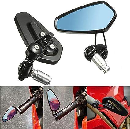 Spiegel Für Lenkerende Aolead Motorrad Spiegel 7 8 22mm Lenkerendenspiegel Motorrad Für Scooter Cruiser Blau Auto