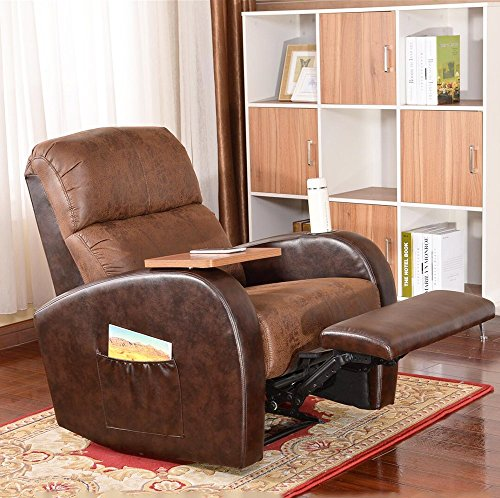 Soges Luxurious Manual Recliner Chair Lounge Sofa Home Theater Chair Living Room Chair , Brown 535-BR-X by soges