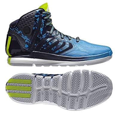 37423a65ac3c adidas Derrick D Rose 4.5 Adiprene G99362 Navy Solar Slime Solar Blue Men s  Basketball