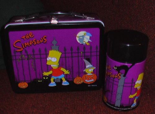 Simpsons Halloween metal lunch box with drink bottle]()
